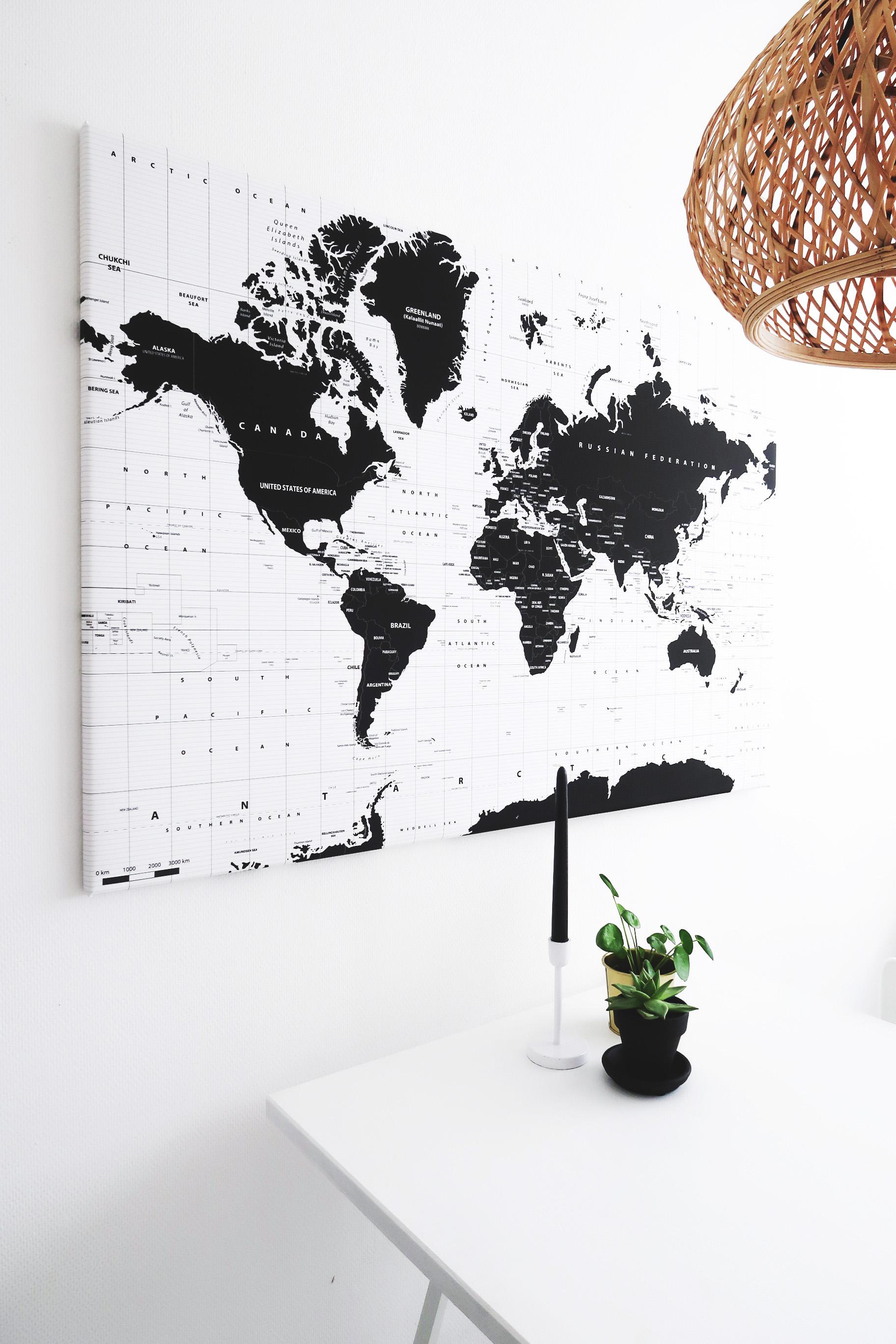 wereldkaartcanvas